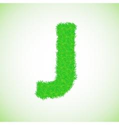 grass letter J vector image
