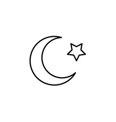 islam star and crescent moon icon vector image