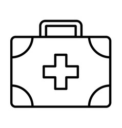 medical assistance outline icon vector image