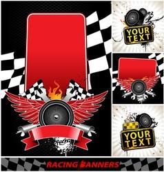 set of racing banners vector image
