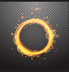 shining circle light effect design element vector image