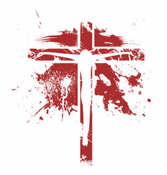 Silhouette of the lord jesus christ on the cross vector
