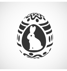 decorative egg vector image vector image