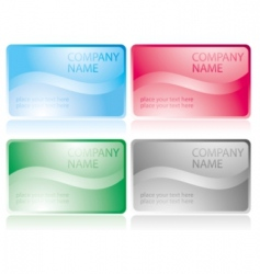 set of glossy business cards vector image vector image