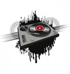 disco player vector image