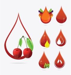 medic creative blood drops set vector image vector image