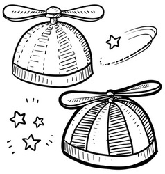Propeller hat vector image vector image