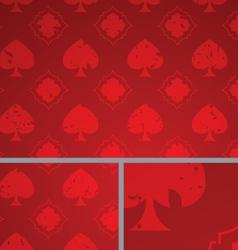 Red vintage poker spade distressed background vector