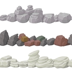 Seamless cartoon stones and bridge for game design vector image