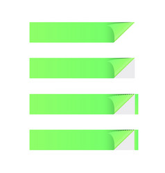 sticker banner green vector image vector image