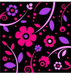 Stylish black and pink pattern vector image
