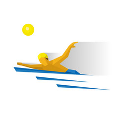 swimmer in the water marathon swimming vector image vector image