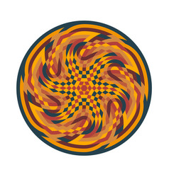 abstract multicolor symbol geometric circular vector image vector image