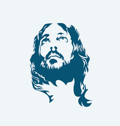 Face of the lord jesus christ vector