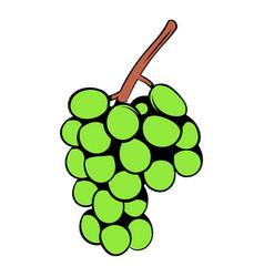 green grape branch icon cartoon vector image