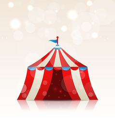 Open circus stripe entertainment tent vector image