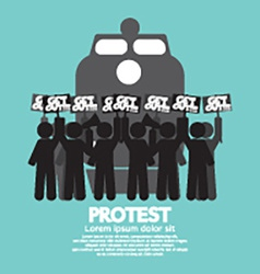 Train Workers Strike And Protest Symbol vector image