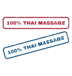 100 Percent Thai Massage Rubber Stamps vector