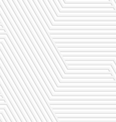 3D white striped hexagonal big vector