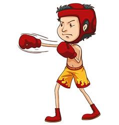 A coloured sketch of a boxer vector