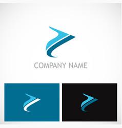 abstract arrow colored company logo vector image