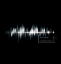 Abstract background with a sound wave black and vector