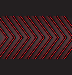 Abstract red light neon direction pattern design vector