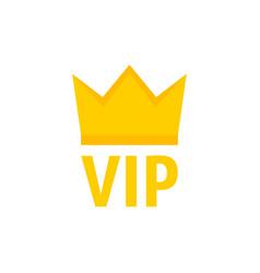 abstract vip icon yellow badge vector image
