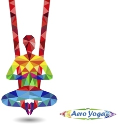 Aero yoga image triangles vector