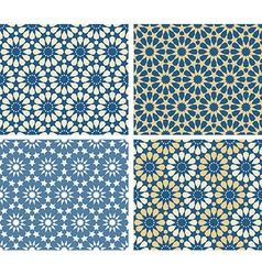 Arabic patterns set vector