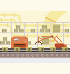 automated production line cartoon vector image