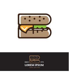 B letter based burger symbol vector