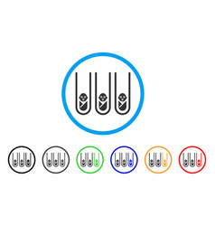 Baby cloning test-tubes rounded icon vector