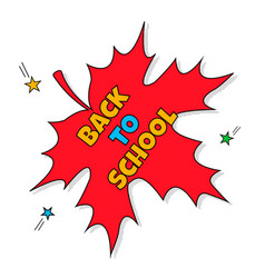 Back to school education with red vector