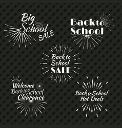Back to school typographic logo vector