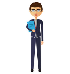 Banker with glasses vector