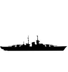 battleship eps vector image
