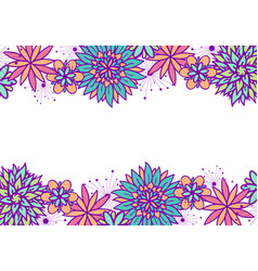 beautiful doodle floral frame vector image