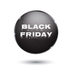 Black Friday sale black tag round banner vector