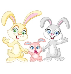 Bunnies family vector