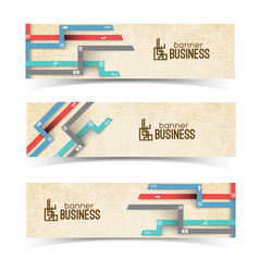 Business banners with colorful tabs vector