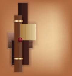 Chocolate Art Deco geometric background vector image