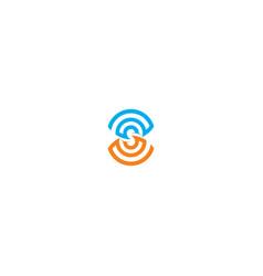 circle line abstract technology logo vector image