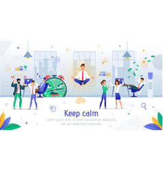 clear mindset in office work flat banner vector image