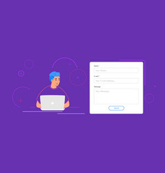 contact and feedback blank form on a website vector image