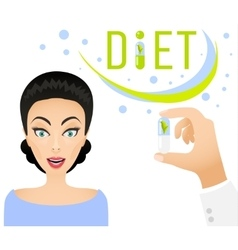 Diet pills ad banner concept Healthy lifestyle vector