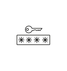 Digital password icon vector