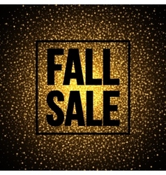 Fall sale banner design on a sparkling shiny vector
