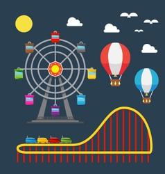 flat design carnival festival vector image