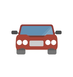 Flat design simple car vector image
